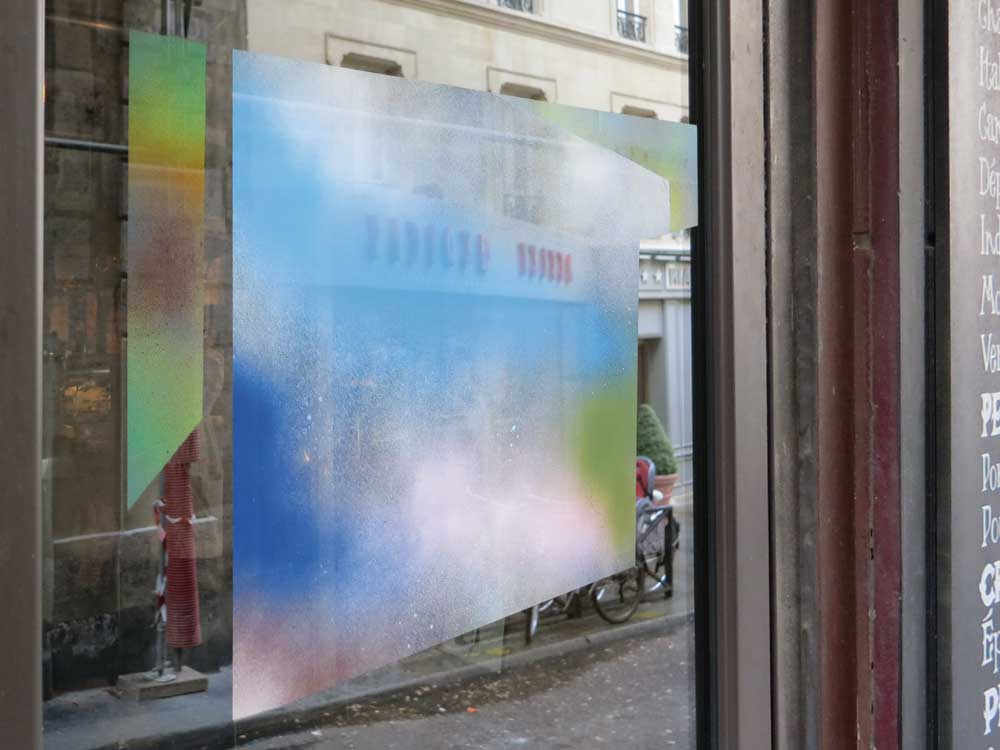 Cornaro, Isabelle, 'Spray Painting', 2012. Acrylique. , Acrylic. . 'This&There' exhibition. Le Reflet, 6 Rue Champollion, Paris (FR-75005). Photo Claude Closky